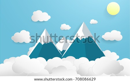 mountain and cloud style paper