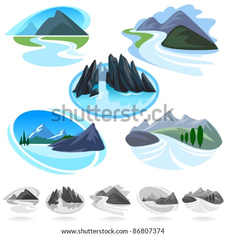 Mountain And Hills ICONs