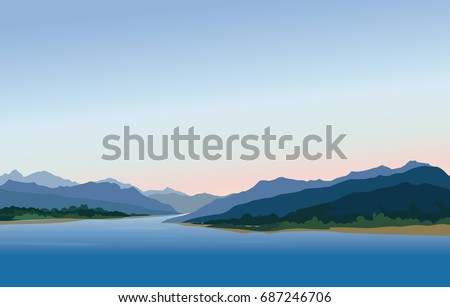 mountain and hills landscape
