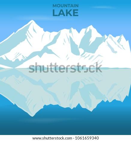 mountain and lake landscape