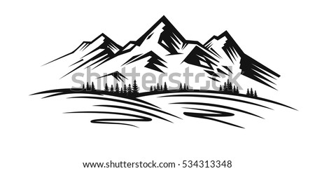 mountain and landscape vector...