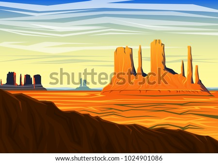 mountain and monument valley