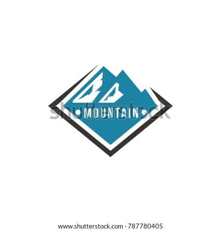 mountain and outdoor adventures logo. Tourism, hiking and camping labels. Mountains and travel icons for tourism organizations, outdoor events and camping leisure. eps 10 eps 8