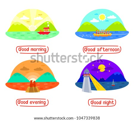mountain and sea landscape in