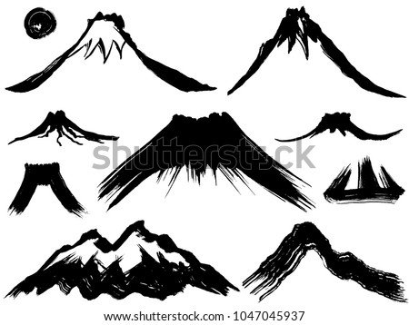 mountain and volcano mountain