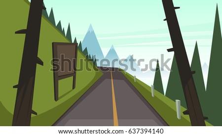 Mountain Asphalt Road