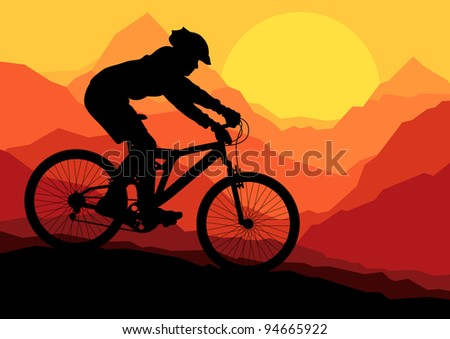 mountain bike bicycle rider in
