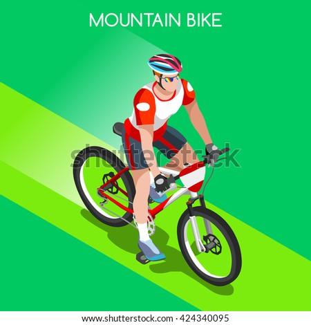 mountain bike cyclist bicyclist