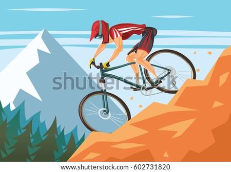 Mountain bike downhill Stockfoto ©