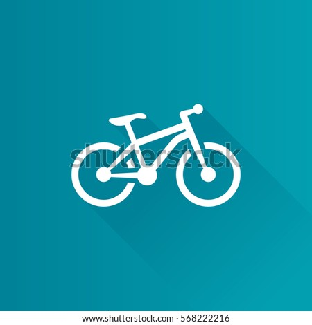 Mountain bike icon in Metro user interface color style. Sport explore bicycle