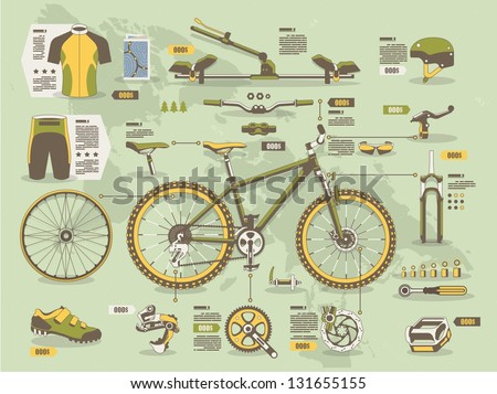 mountain bike info graphic