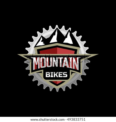 mountain bike logo emblem icon