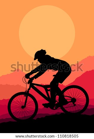 mountain bike rider in wild