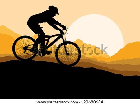 mountain bike rider in wild