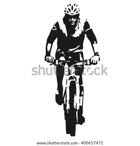 mountain biker  abstract vector