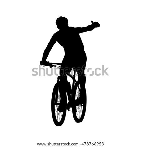 mountain biker showing thumbs