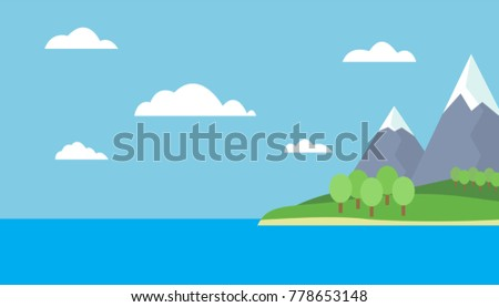 mountain cartoon view of an