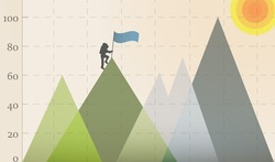 Mountain Climber On The Graph Conquer New Heights
