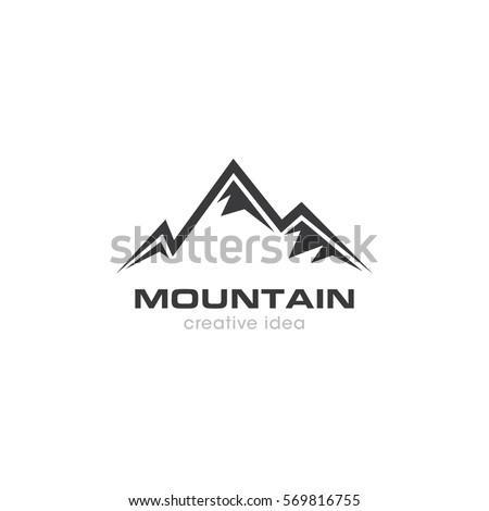 mountain creative concept logo