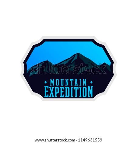 mountain expedition logotype