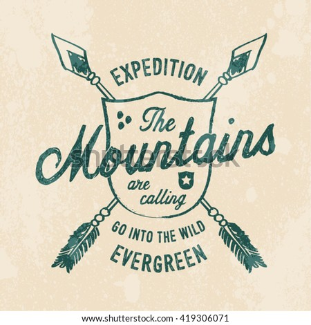 mountain expedition print for t