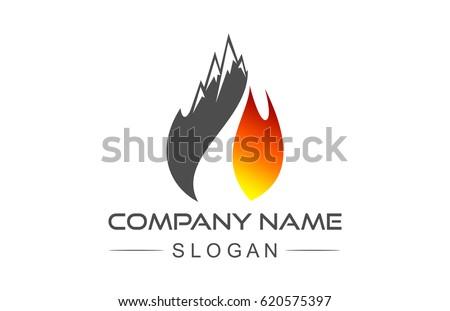 mountain flame spirit  logo