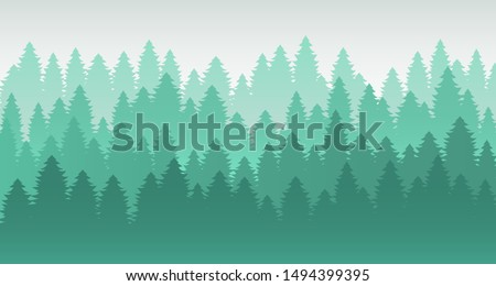 mountain forest green scenery