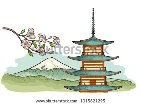 mountain fuji in japan abd...
