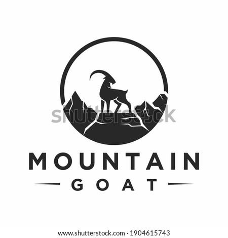mountain goat logo  icon and