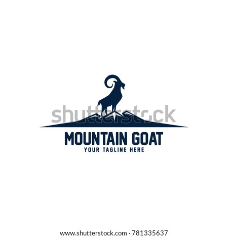 Mountain Goat Logo Vector