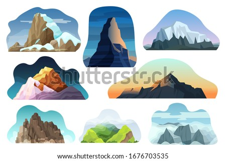 mountain hill landscape vector