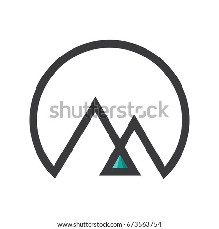 mountain icon mountain logo