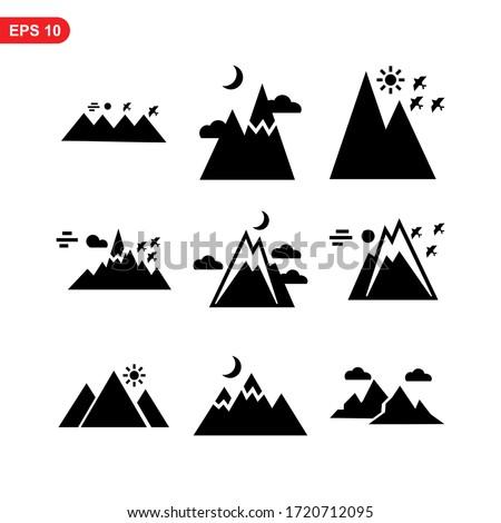 mountain icon or logo isolated