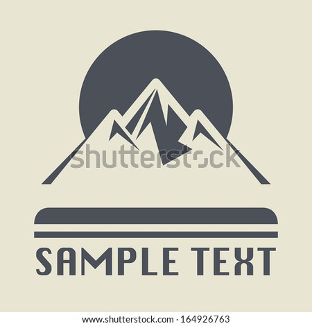 Mountain icon or sign, vector illustration