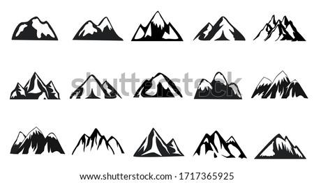 mountain icon set  15