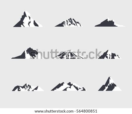 mountain icons or logotypes