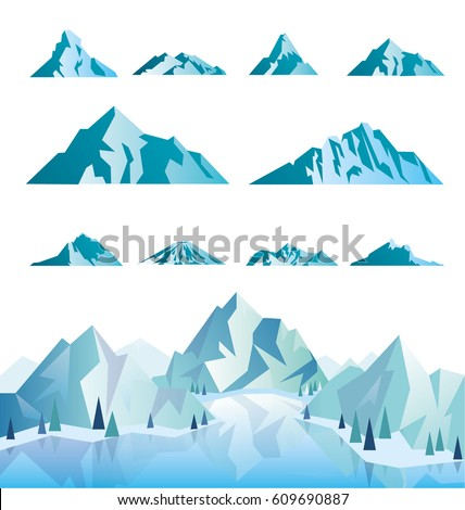 mountain icons or logotypes