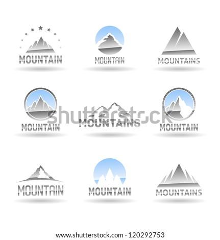 Mountain icons set. Vol 1.