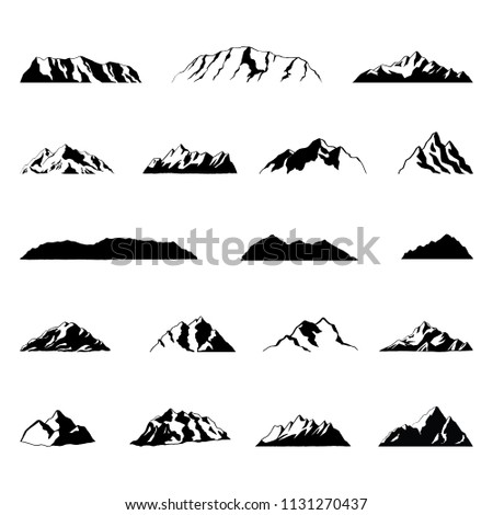 Mountain Illustrations Illustrations of mountains, isolated on white background.