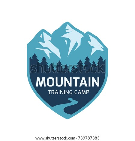 mountain label vector icon