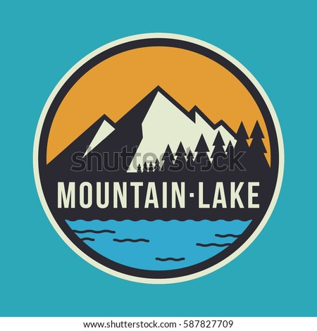 mountain lake circular logo