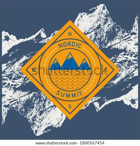 Mountain landscape design vector illustration print  Stock photo ©