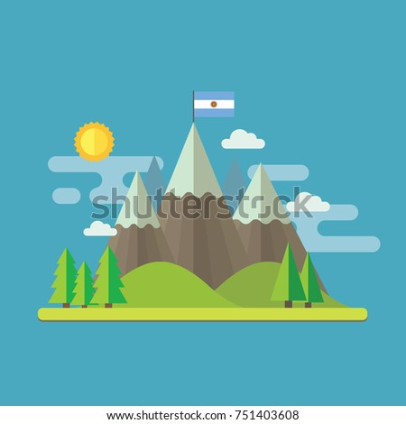 mountain landscape flat design