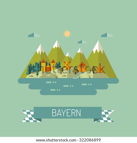 mountain landscape  flat