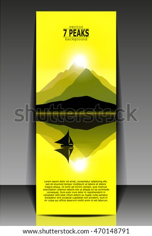 mountain landscape flyer with