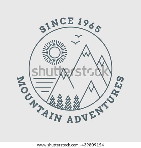 mountain landscape logo nature  ...