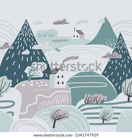 mountain landscape lonely