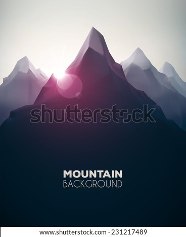 Mountain landscape, nature background, eps 10