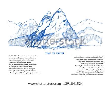 mountain landscape sketch