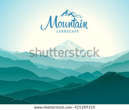 mountain landscape  the